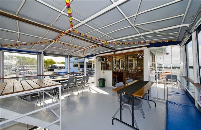 Top Deck of the Noosa Queen
